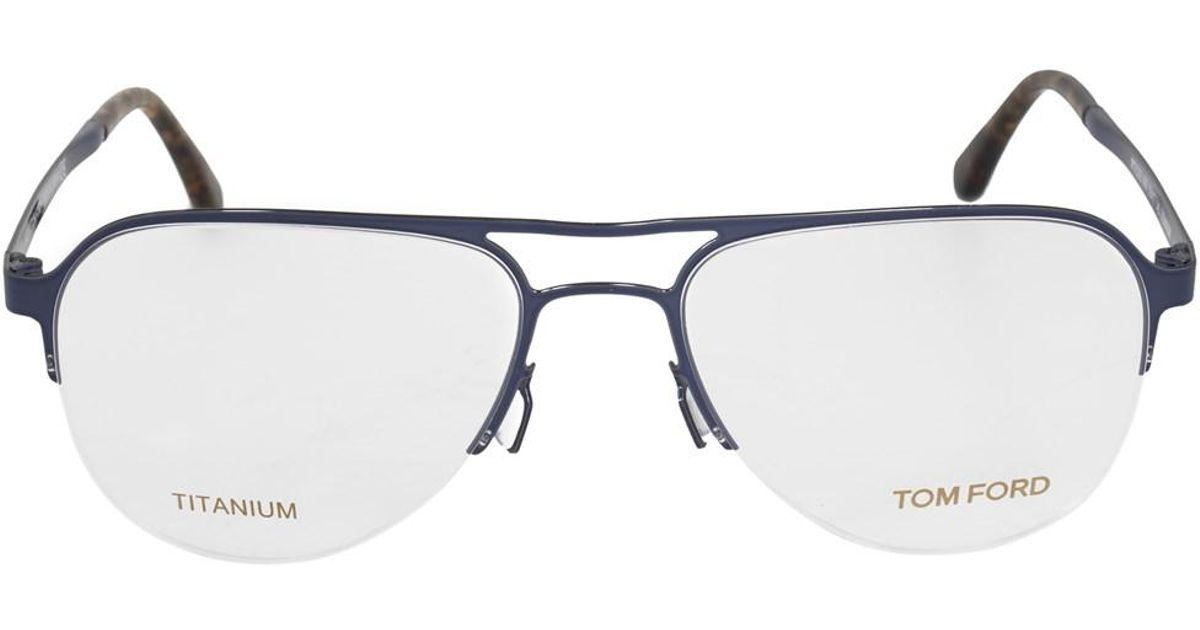 Lyst - Tom Ford Ft5370 90 Aviator | Blue| Eyeglass Frames in Blue