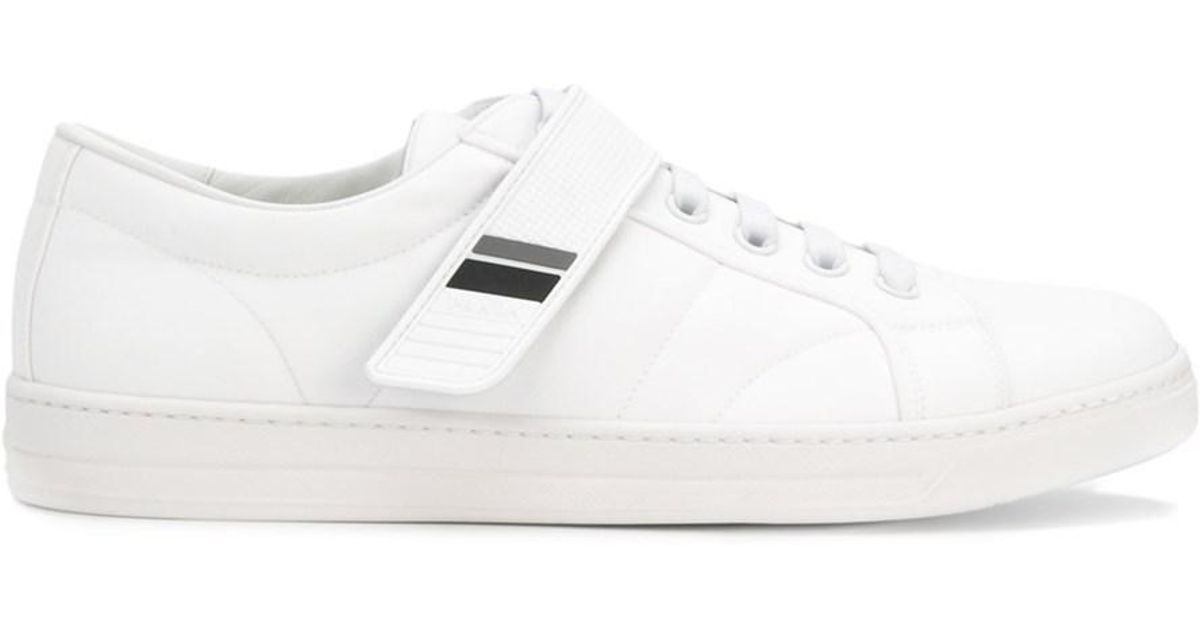 in in Lyst Lyst Lyst White White Men's Sneakers Prada for Men Fabric gqzXgwFxr