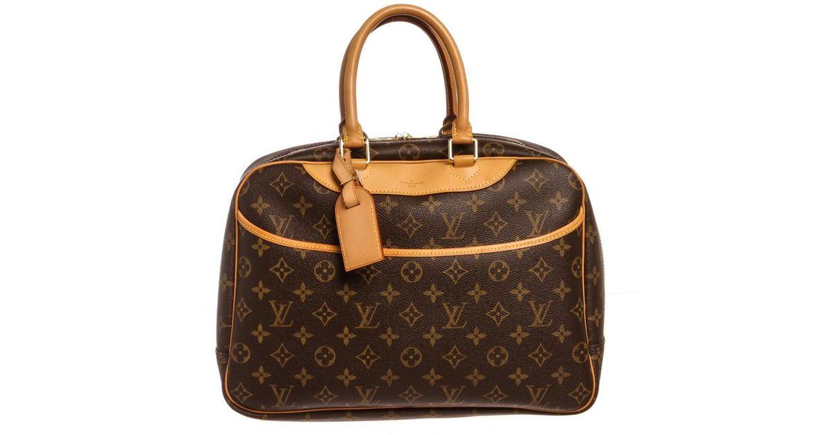 7671d83391d Louis Vuitton - Brown Monogram Canvas Leather Deauville Doctor Bag - Lyst