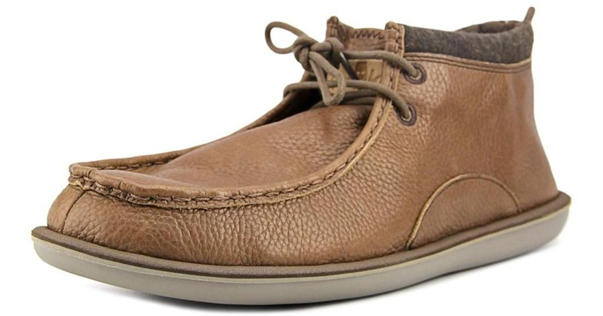 Lyst - Sanuk Walla Deluxe Men Moc Toe Leather Brown Boot in Brown for Men