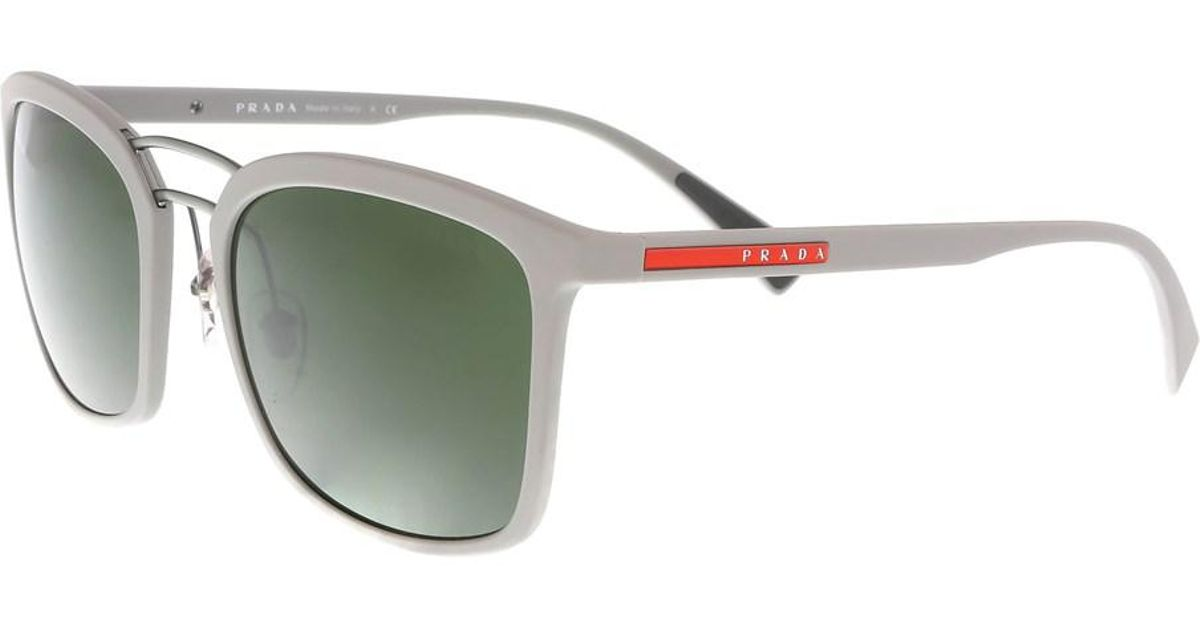93e30bc63c05 Lyst - Prada Ps 55ss Dg05s0 Black Round Sunglasses in Black