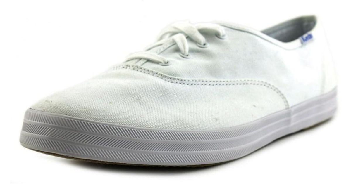 06071df7663 Lyst - Keds Champion Women Ww Round Toe Canvas White Sneakers in White