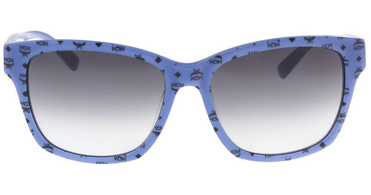 4d20d10a848f4 Lyst - Mcm 600 s 411 Blue Visetto Rectangle Sunglasses in Blue