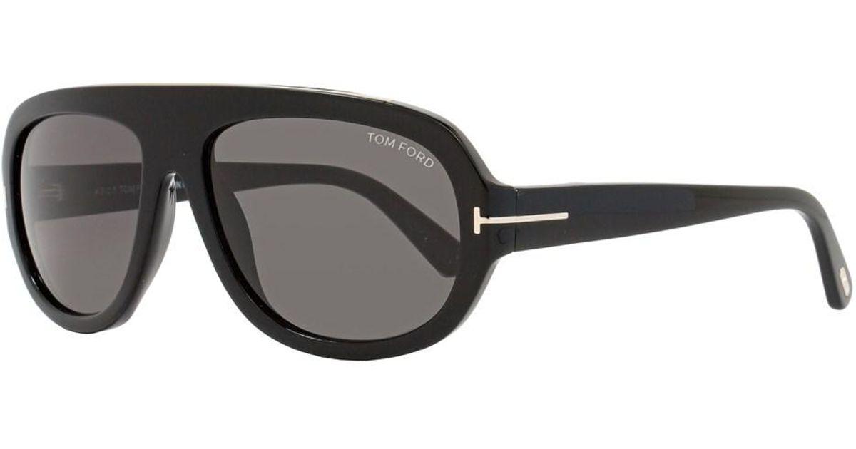 570dd54493 Lyst - Tom Ford Rectangular Sunglasses Tf444 Hugo 01a Shiny Black gold  Ft0444 in Black for Men
