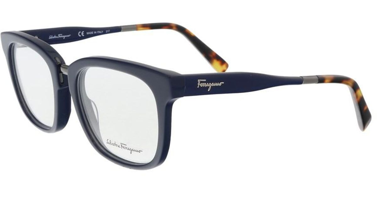 73efe1cf4a Lyst - Ferragamo Sf2785 407 Blue Havana Optical Frames in Blue for Men