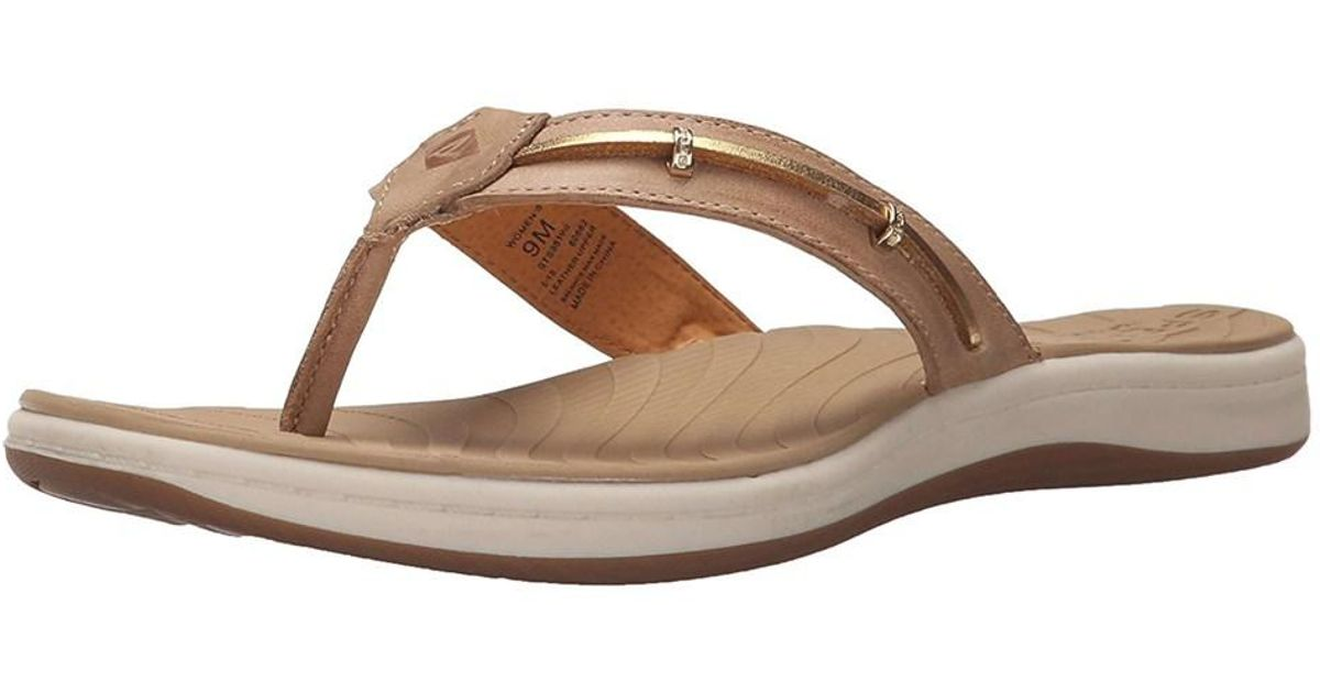 32d91f41cfd0 Lyst - Sperry Top-Sider Womens Seabrook Wave Leather Open Toe Casual in  Brown