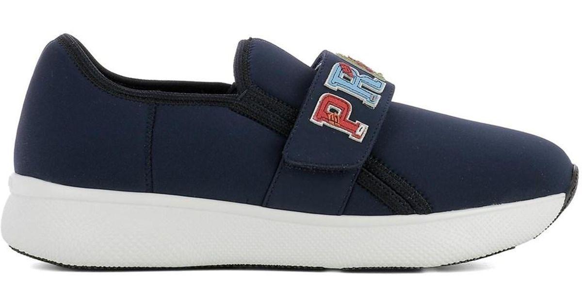 Chaussures De Sport - Slip En Néoprène Sur Baltico - Bleu - Chaussures De Sport Pour Dames Prada FddR4y