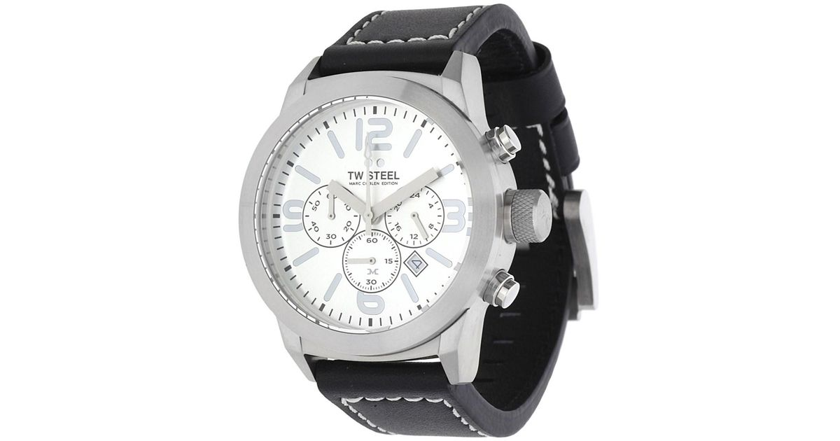 aad0ff56765 Tw Steel Watch Marc Coblen Edition Chronograph Black Twmc14 in Black for Men  - Lyst