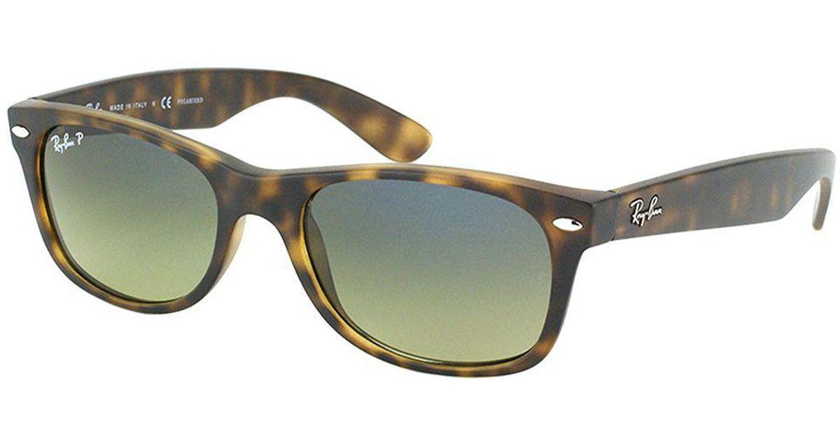 afb76c813d8ab Lyst - Ray-Ban New Wayfarer Rb 2132 894 76 52mm Matte Havana Rectangular  Sunglasses