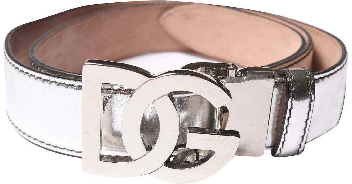 dolce gabbana patent leather belt in white lyst