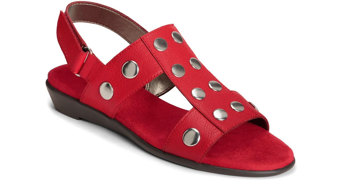 Aerosoles Women S At Heart Sandals In Red Lyst