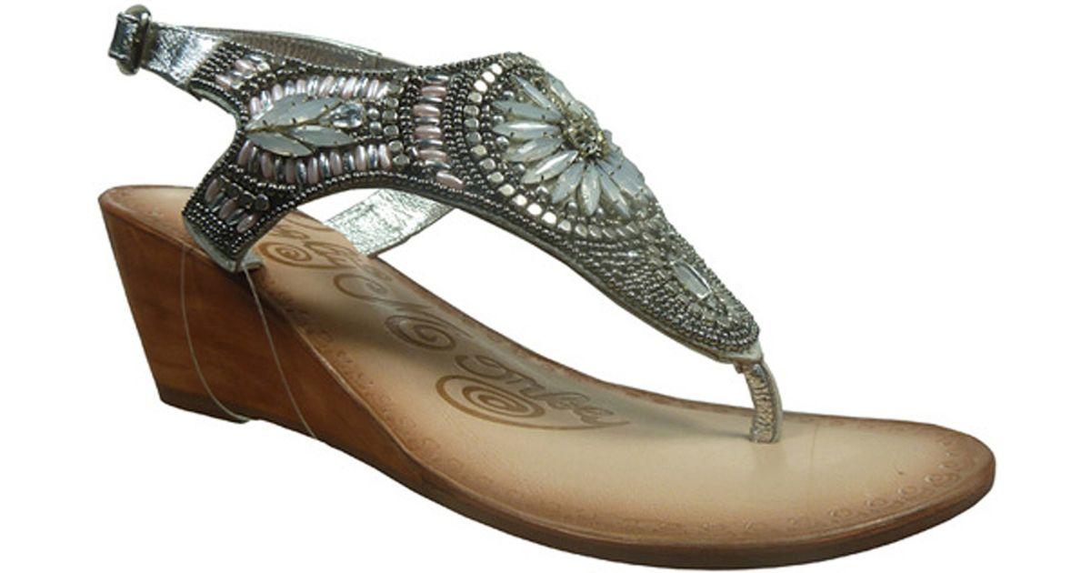 Naughty monkey Women's Spring Buds Sandals in Metallic