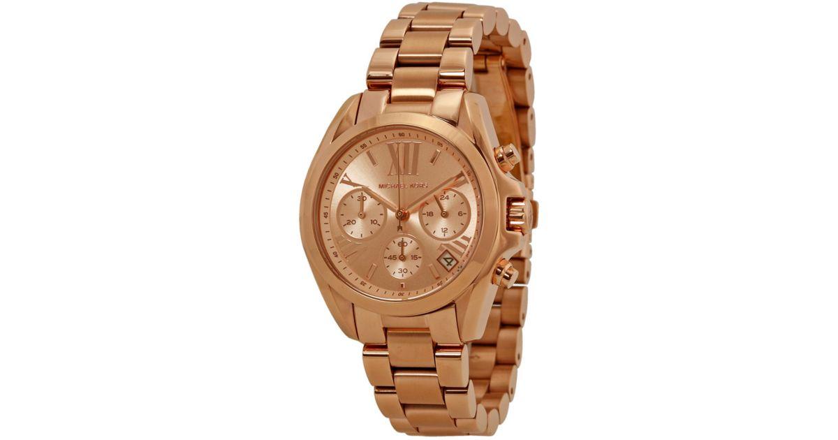 2c3ae100a233 Lyst - Michael Kors Women s Bradshaw Chronograph Watch in Brown