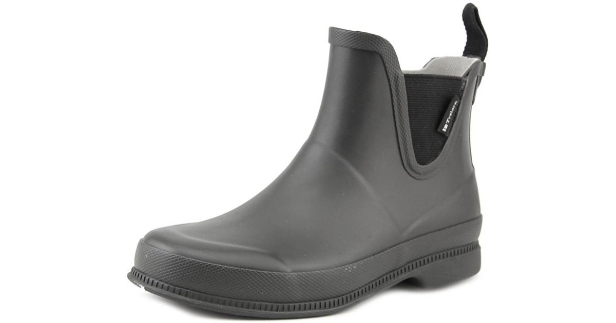Beautiful Tretorn Skerry Neo Women Round Toe Canvas Rain Boot In Black | Lyst