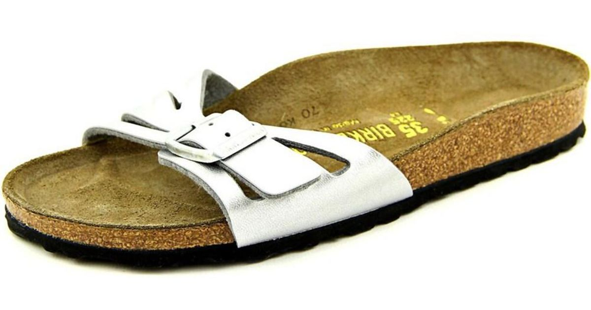 78957f6f9ce Lyst - Birkenstock Molina N s Open Toe Synthetic Slides Sandal in Metallic