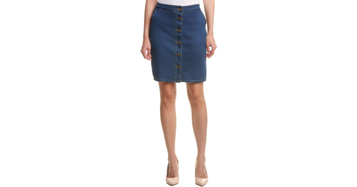 kut from the kloth skirt in blue lyst