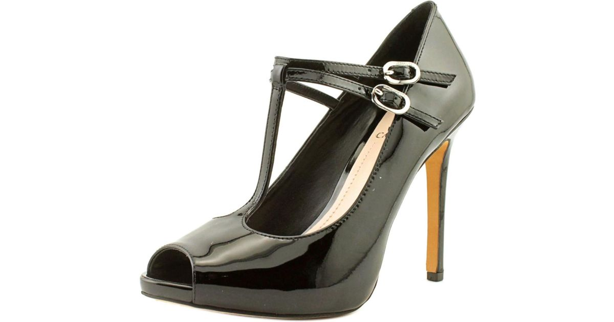 Vince Camuto Carlii Women Peep Toe Patent Leather Heels In