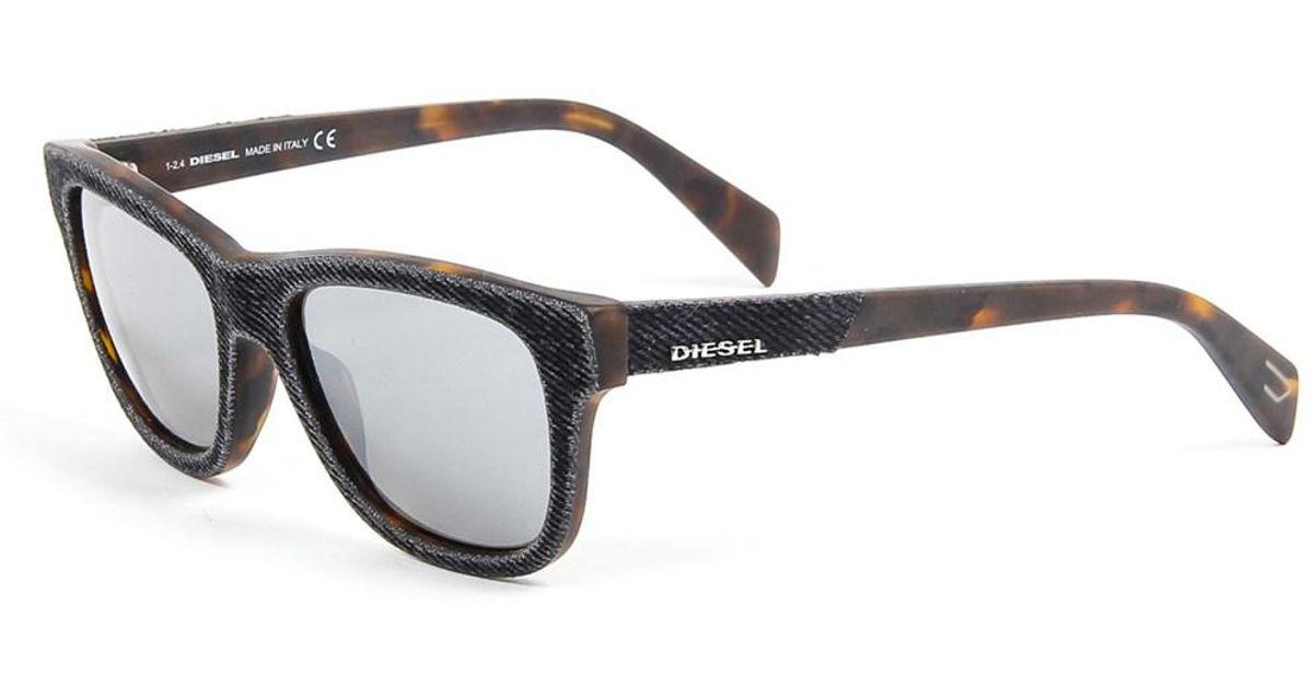 a983a04e59 Lyst - Diesel Mens Denim Sunglasses in Black for Men