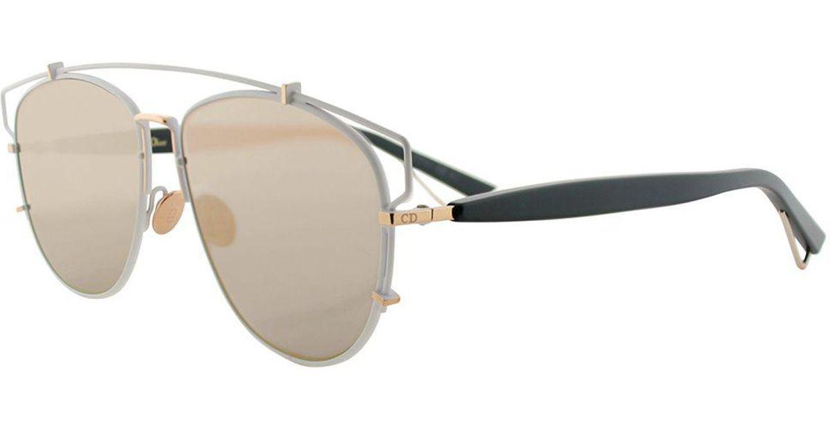 4f3b15d465203 Lyst - Dior Technologic Cd Technologic Xg9 57mm Matte White Black Fashion  Sunglasses