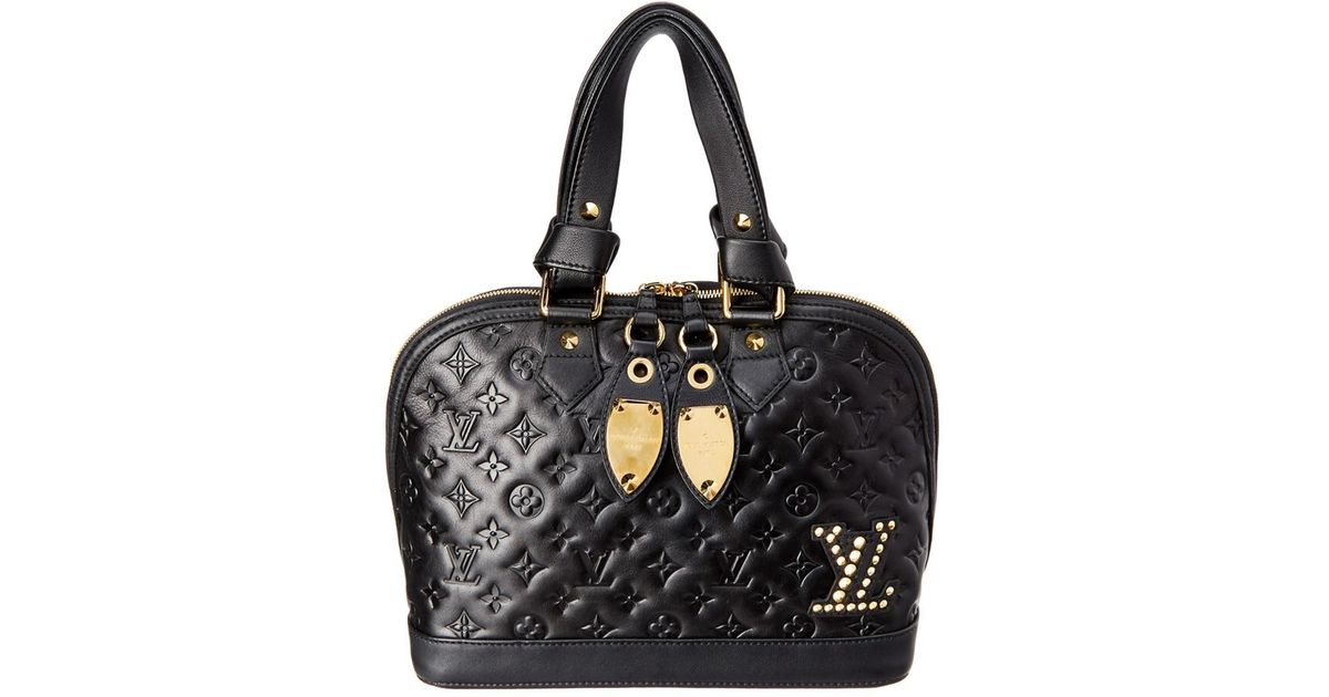 9de05623c375 Louis Vuitton Limited Edition Black Monogram Leather Double Jeu Neo-alma in  Black - Lyst