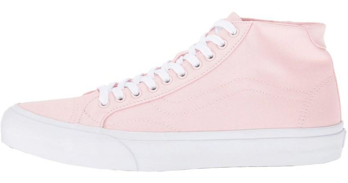 9a5380d6463385 Lyst - Vans Mens Court Mid Canvas Low Top Lace Up Fashion Sneakers in Pink  for Men