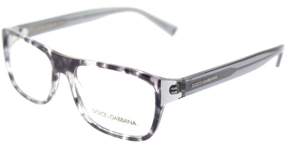 b448eba6eadc Lyst - Dolce   Gabbana Flat Dg 3276 3142 54mm Havana Black Clear Rectangle  Eyeglasses