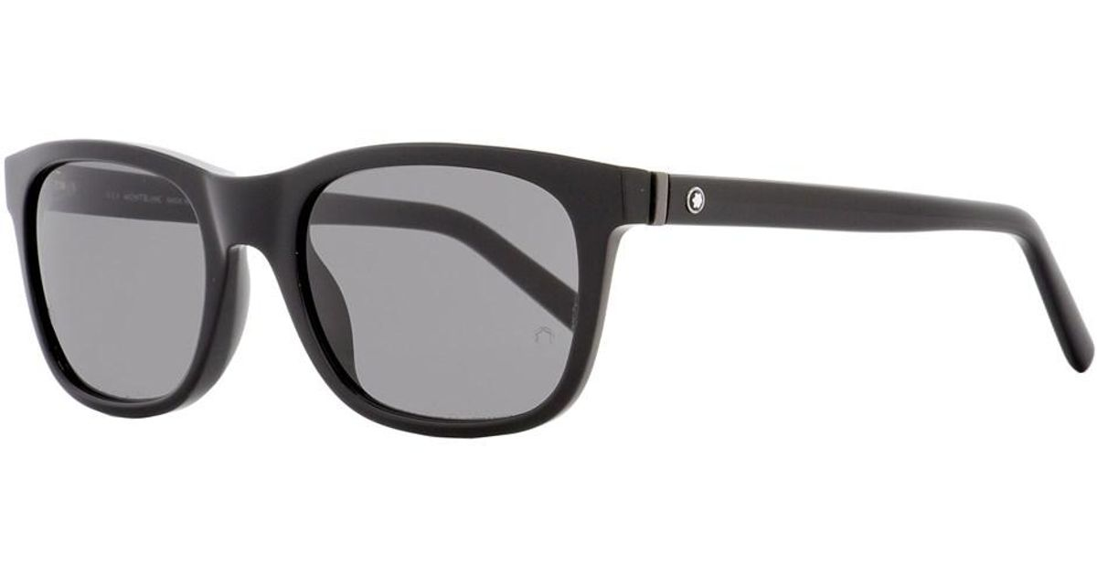 a11a882067 Lyst - Montblanc Rectangular Sunglasses Mb507s 01a Shiny Black 53mm 507 in  Black for Men