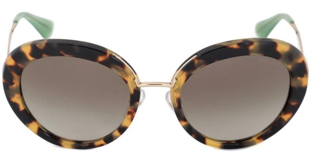 2a2be3e55bb6 Lyst - Prada Round Sunglasses Pr16qs 7s04m1 55