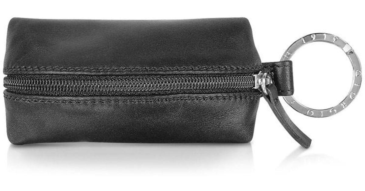 e749d3f912c Lyst - Giorgio Fedon Men s Black Leather Key Chain in Black