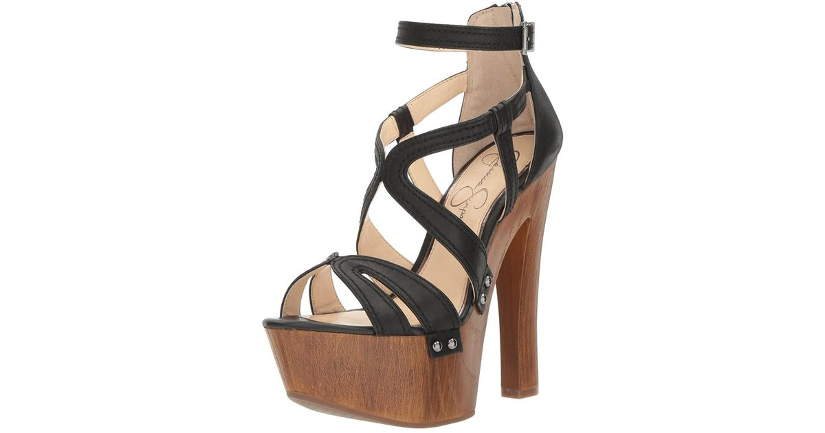 bc8cd1151cd Lyst - Jessica Simpson Womens Dorrin Fabric Open Toe Special Occasion  Platform Sandals in Black