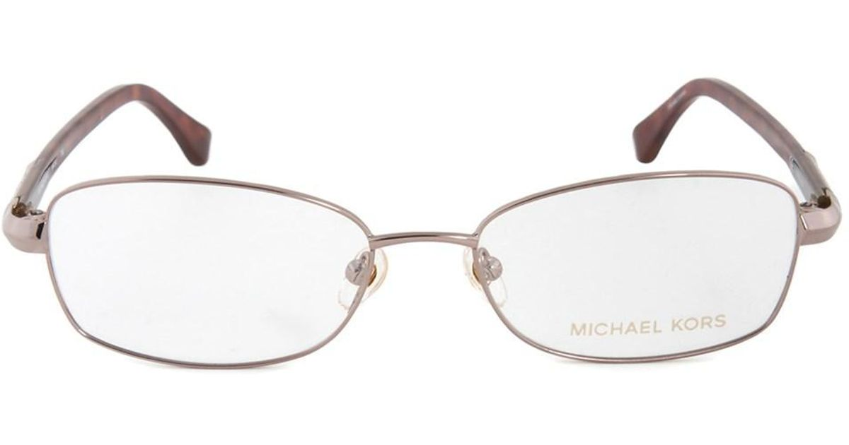 Lyst - Michael Kors Mk360 780 Rectangular   Rose Gold  Eyeglass ...