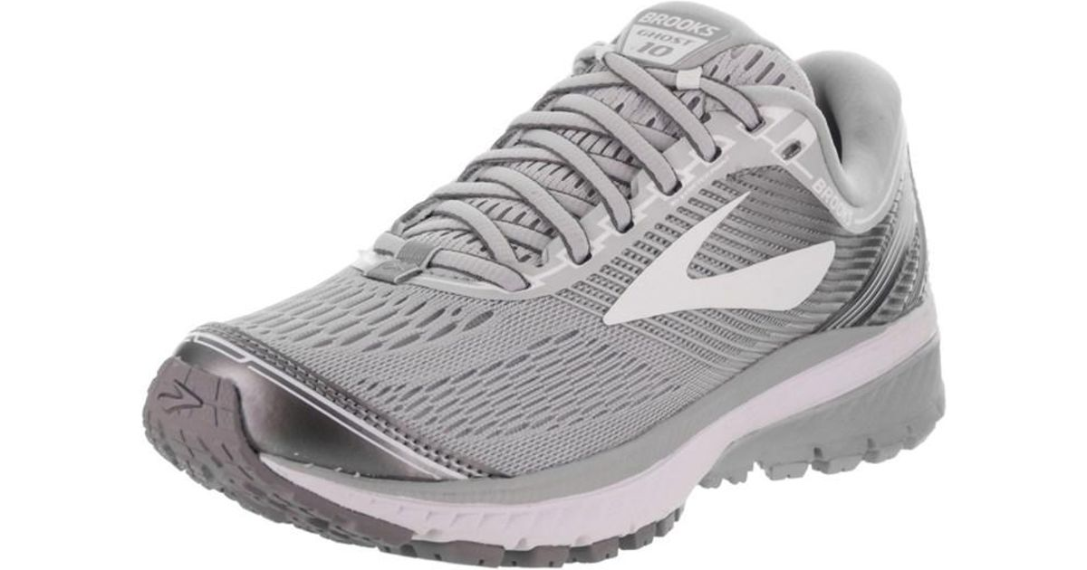 Lyst - Brooks Women s Ghost 10 Running Shoe in Gray 656a767916