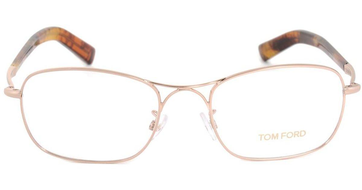Lyst - Tom Ford Ft5366 28 Rectangular | Rose Gold | Eyeglass Frames