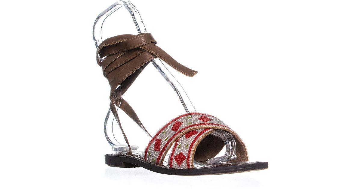 a4270474d68 Lyst - Sam Edelman Luisa Lace Up Sandals