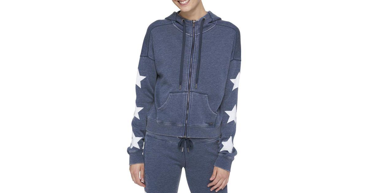 c9c562fc Lyst - Tommy Hilfiger Womens Star Athleisure Hoodie in Blue