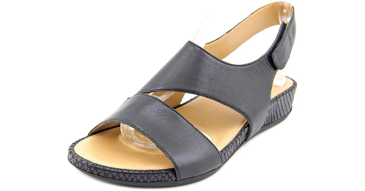 67cb79b0db07 Lyst - Naturalizer Yessica Women Open-toe Leather Black Slingback Sandal in  Black