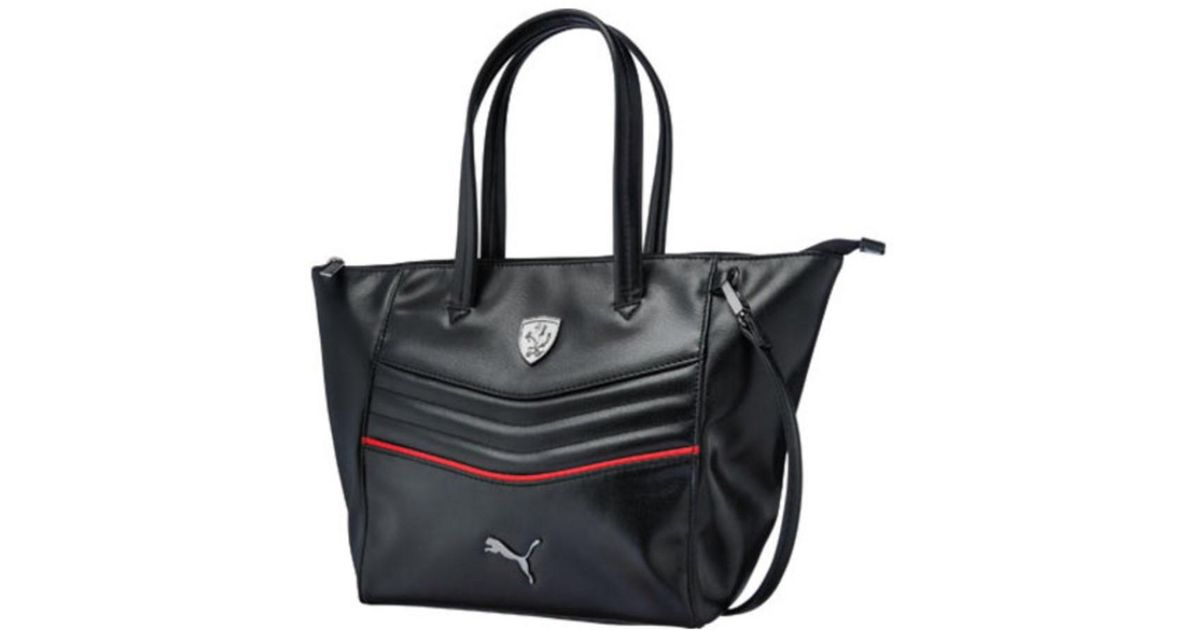 Puma Women s Ferrari Ls Handbag 073937 in Black - Lyst 7182191e99569