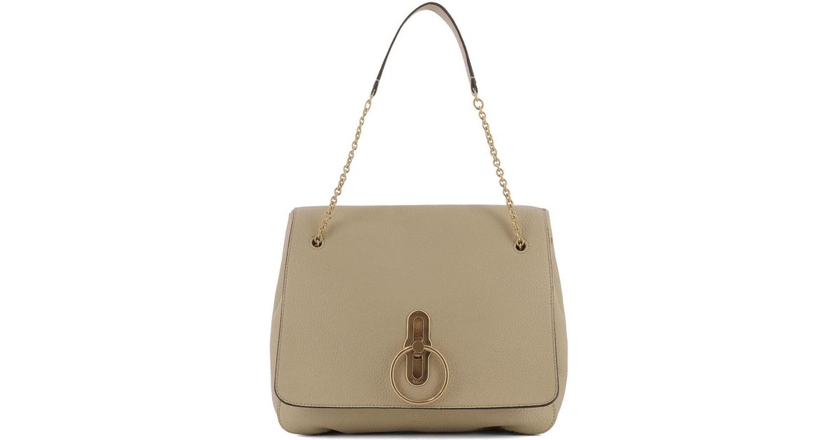 mulberry marloes leather shoulder borse beige r6fqrTaxw