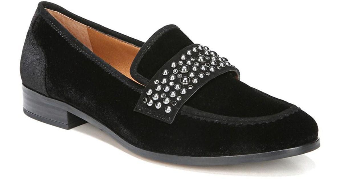 6b4d773cac9 Lyst - Franco Sarto Johanna Velvet Loafer in Black