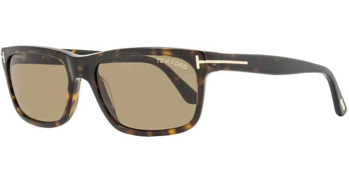a54f90226c8a Lyst - Tom Ford Rectangular Sunglasses Tf337 Hugh 56j Havana Ft0337 for Men