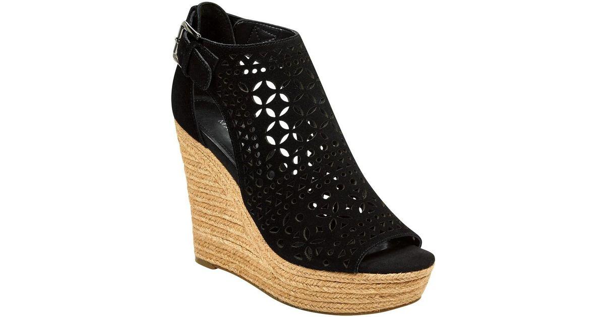 dd18cb940de Lyst - Marc Fisher Womens Helda Leather Open Toe Casual Espadrille Sandals  in Black