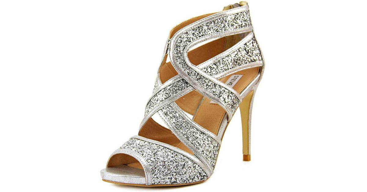 837e1d7830a Lyst - Steve Madden Immence Women Round Toe Synthetic Silver Heels in  Metallic