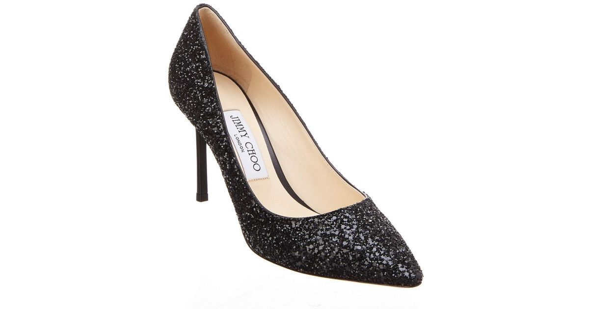 Pumps ROMY 85 fabric glitter bronze black Jimmy Choo London Sale Shopping Online Outlet Eastbay Wide Range Of Online Sale Sneakernews Sneakernews IYeoO4ZRbD