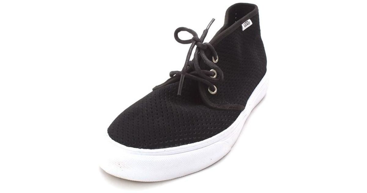 Lyst - Vans Womens Prairie Chukka Low Top Lace Up Skateboarding Shoes in  Black a1e36f212