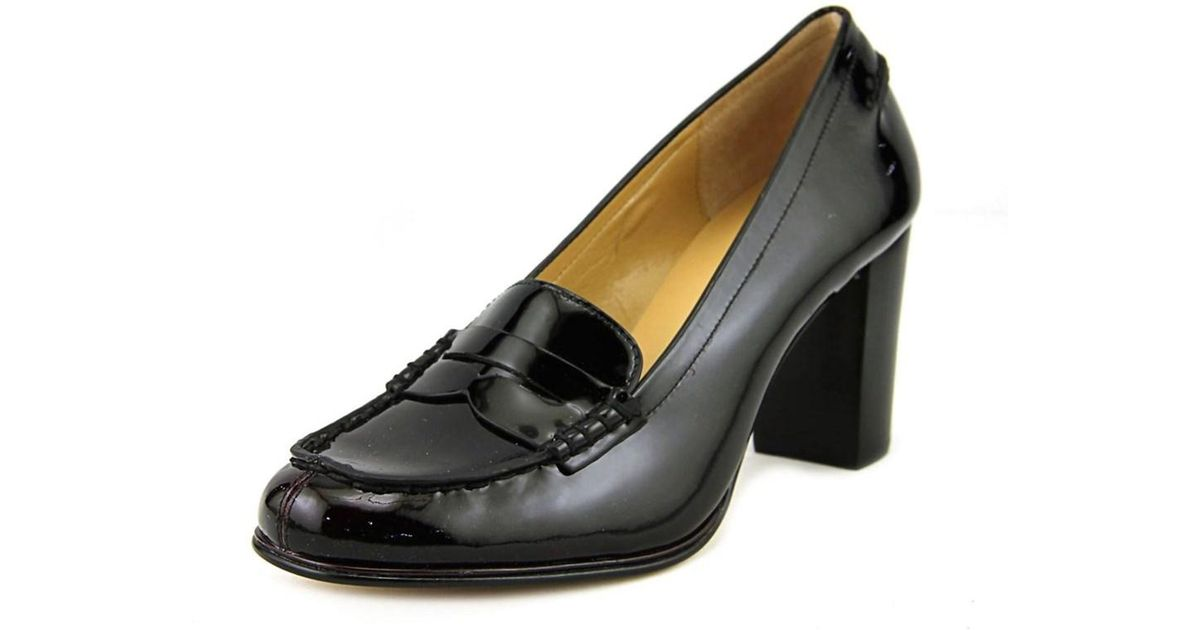 a4f461a3cec Lyst - Michael Michael Kors Bayville Loafer Women Round Toe Patent Leather Black  Loafer in Black