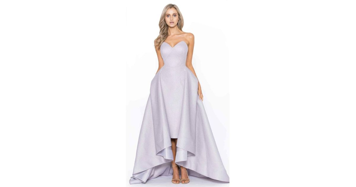 Lyst - Bariano Taylor Strapless Ball Gown in Purple