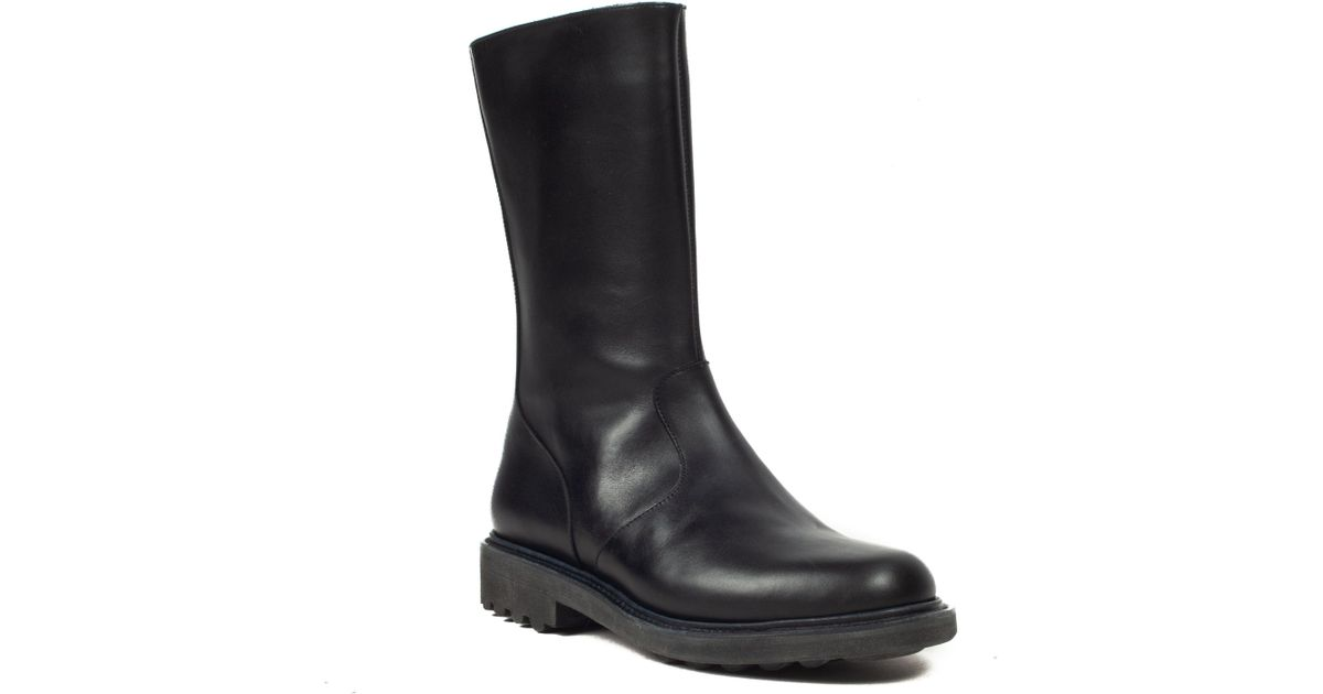 d748af862d6e8 Lyst - Robert Clergerie Women s  drakan  Leather Mid Calf Boot Black Shoes  in Black