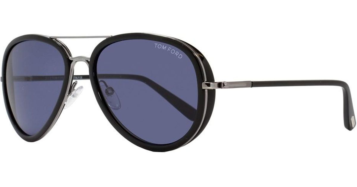 d4c56f828c Lyst - Tom Ford Aviator Sunglasses Tf341 Miles 14v Ruthenium black Ft0341  in Black for Men