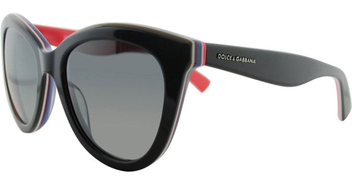 7fdedf54636 Lyst - Dolce   Gabbana Women s Dg4207 55mm Polarized Sunglasses in Black