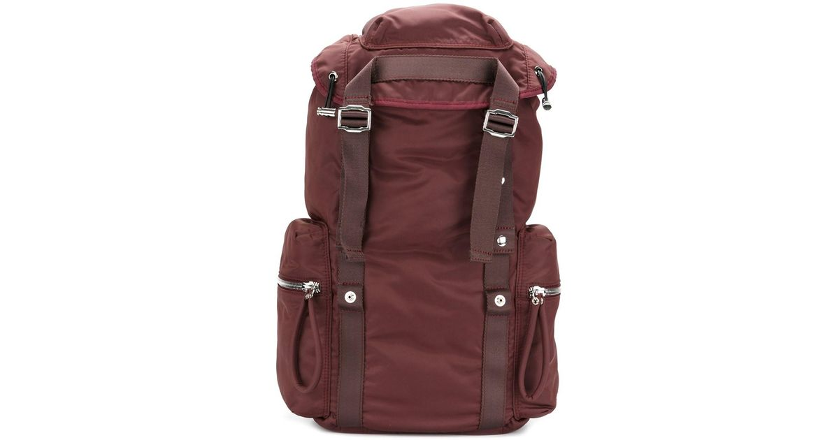 be7d88fd992c Lyst - Diesel Black Gold Men s Burgundy Polyamide Backpack in Red for Men